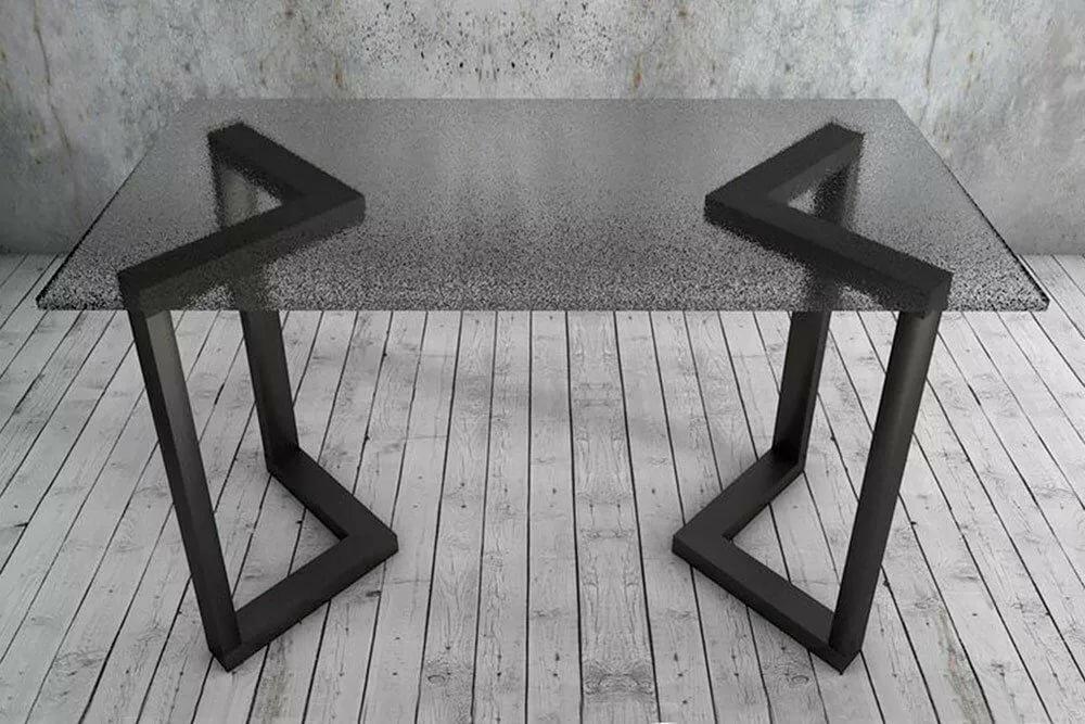 опоры металлические для стола в стиле лофт